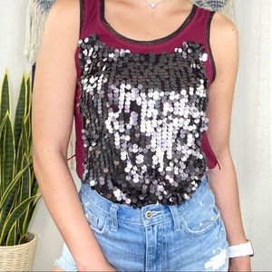 Womens Sequin Front Tunic Simply Be